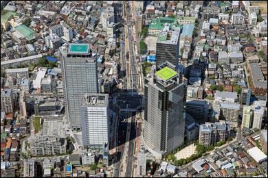 中野坂上の上空写真